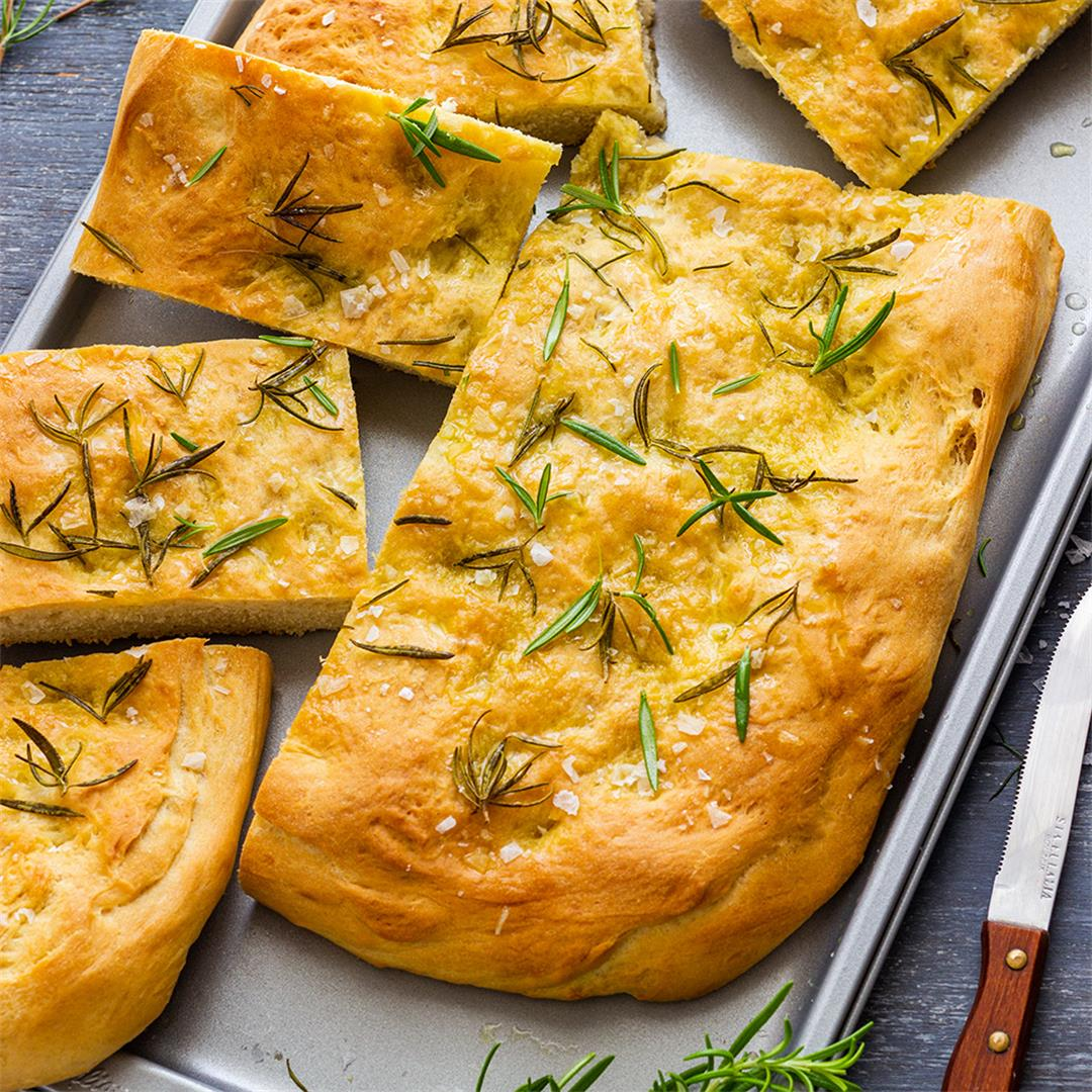 Sea Salt Rosemary Focaccia