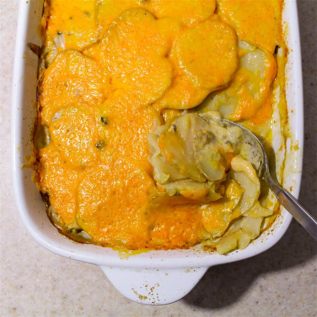 Easy Cheesy Cheater Scalloped Potatoes