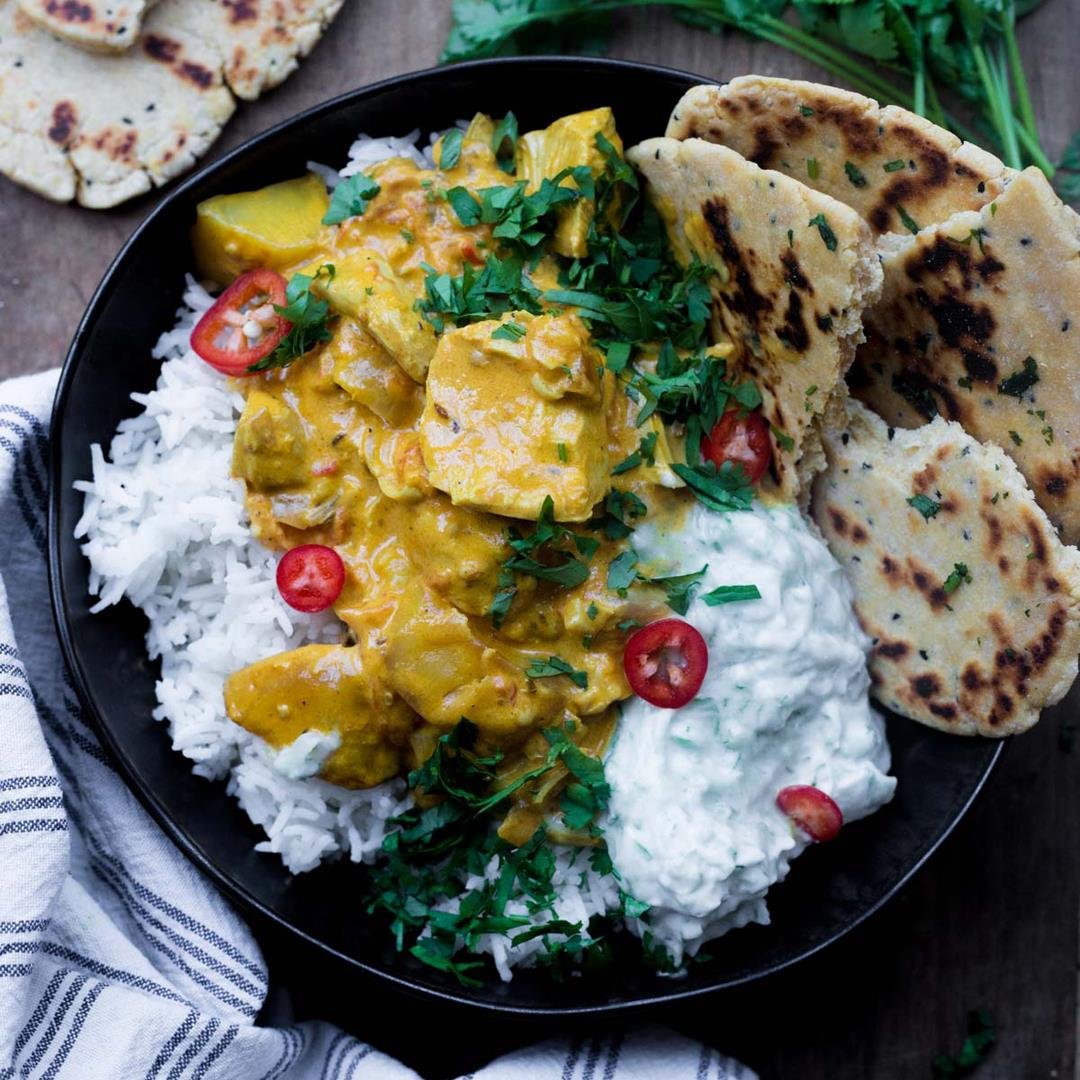 The Best Totally Creamy Leftover Turkey Curry
