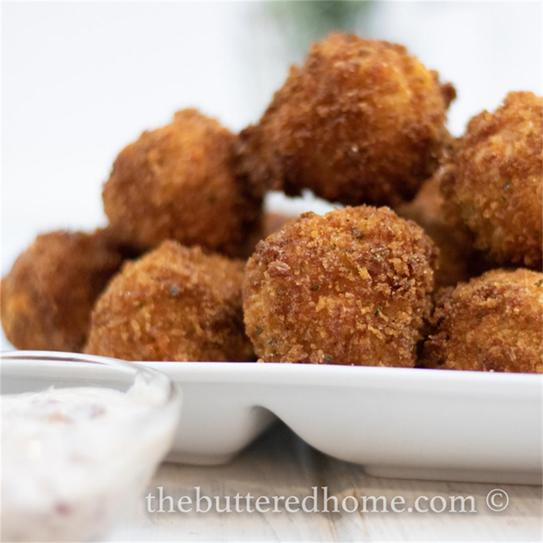 Cornbread Dressing Fritters — The Buttered Home
