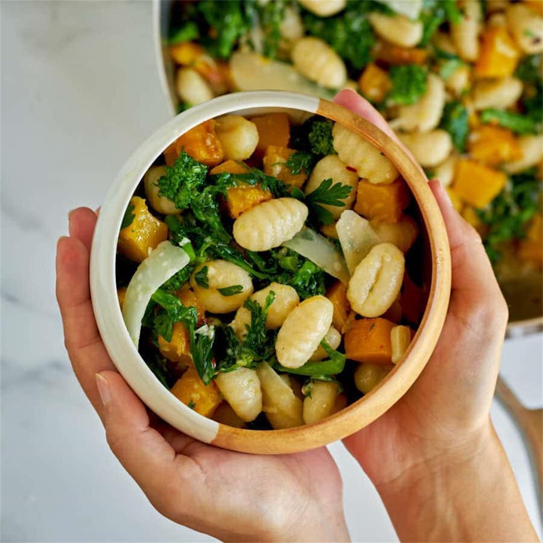 Aglio e Olio Gnocchi with Broccoli Rabe & Pumpkin