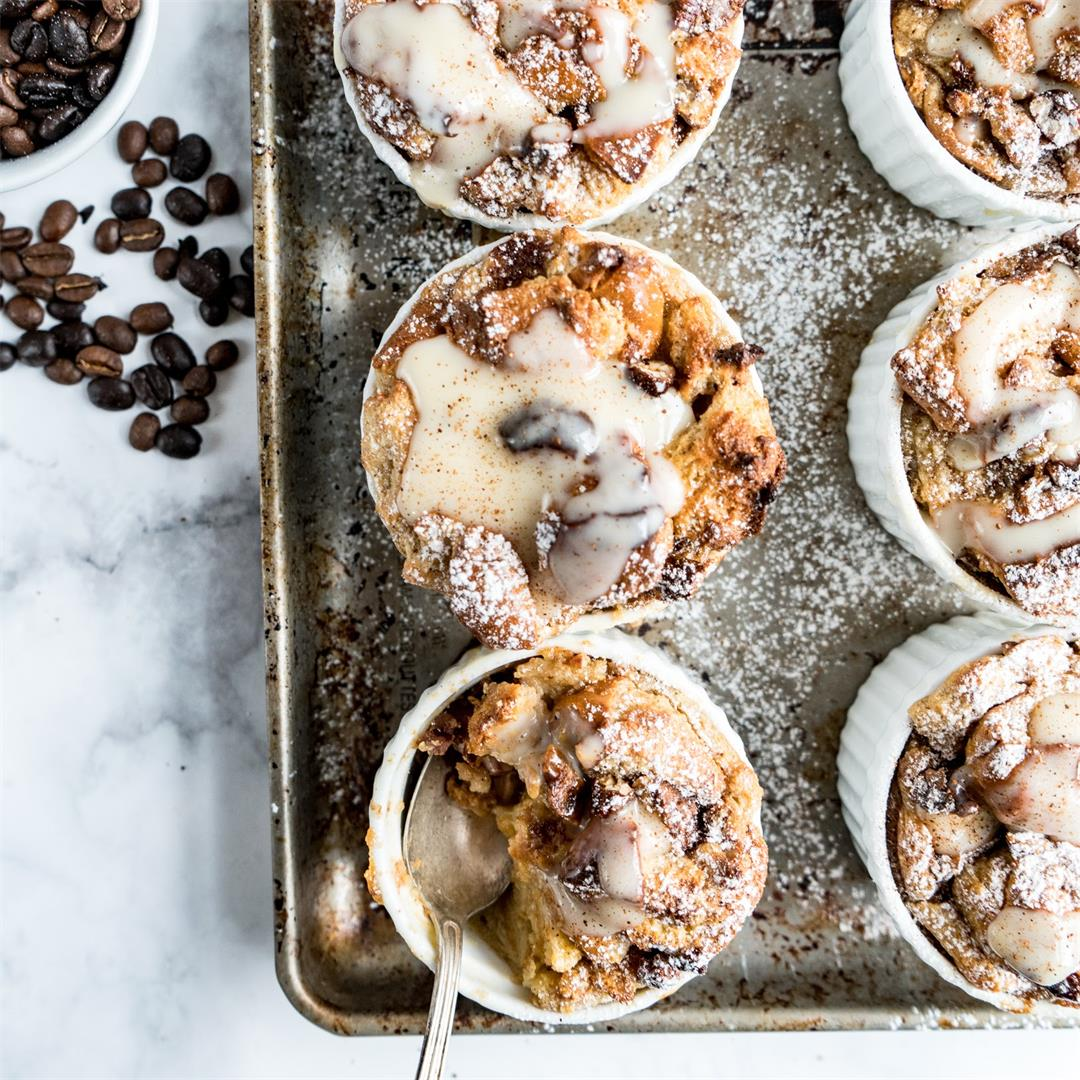 Espresso Bourbon Bread Pudding