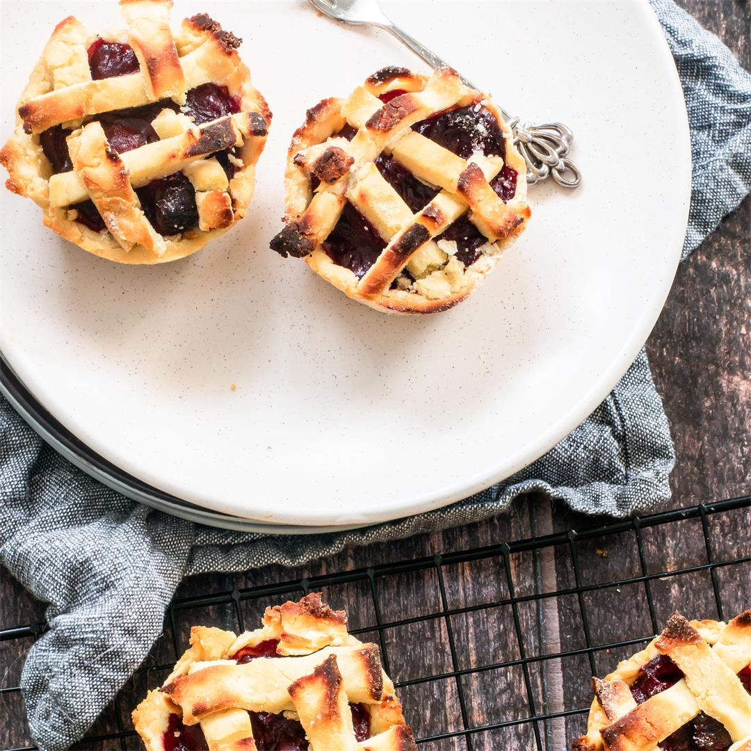 Holiday Vegan Cherry Pies