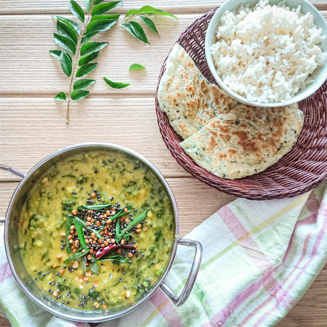 Lentil Curry (dal) With Spinach