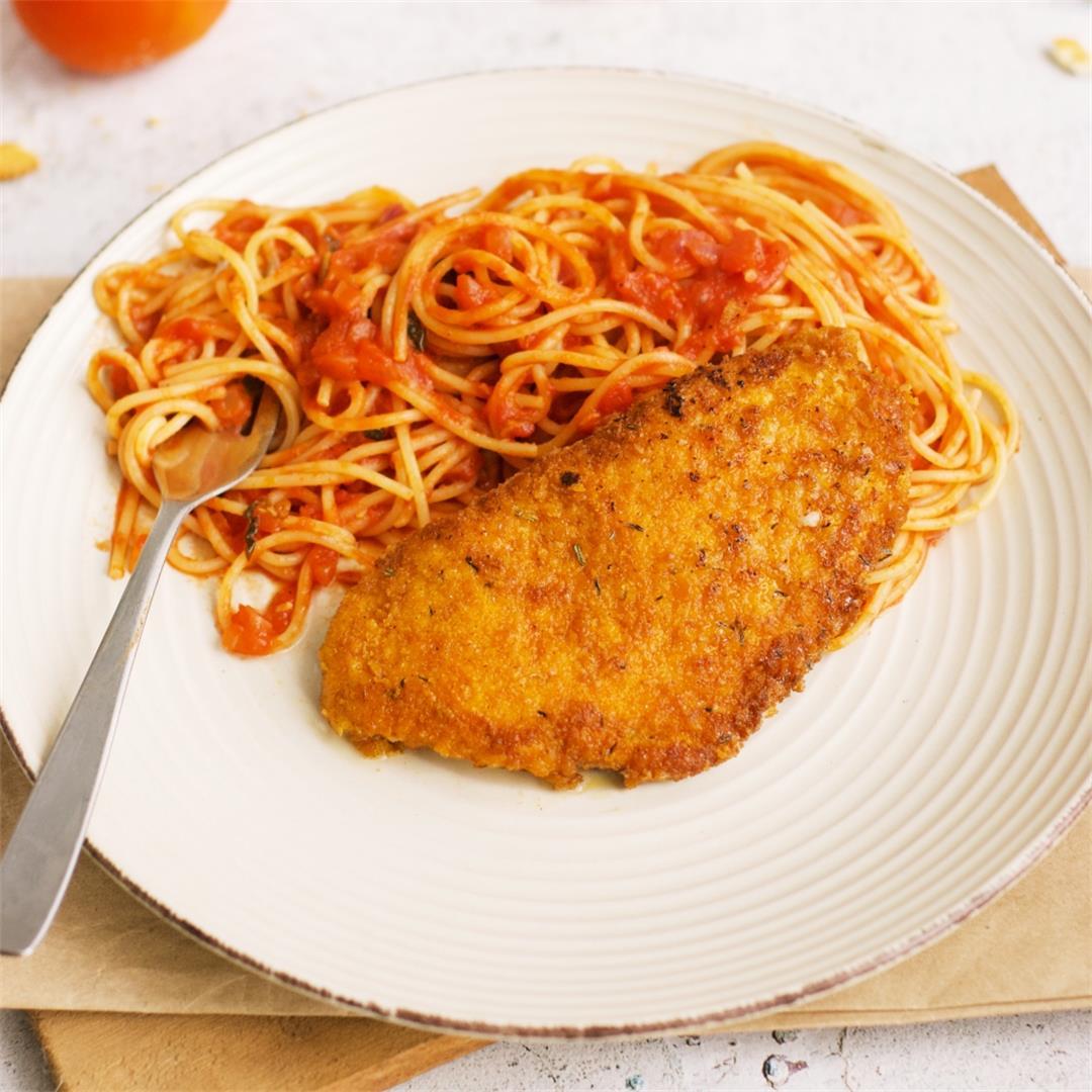 Ritz Cracker Chicken And Spaghetti Marinara