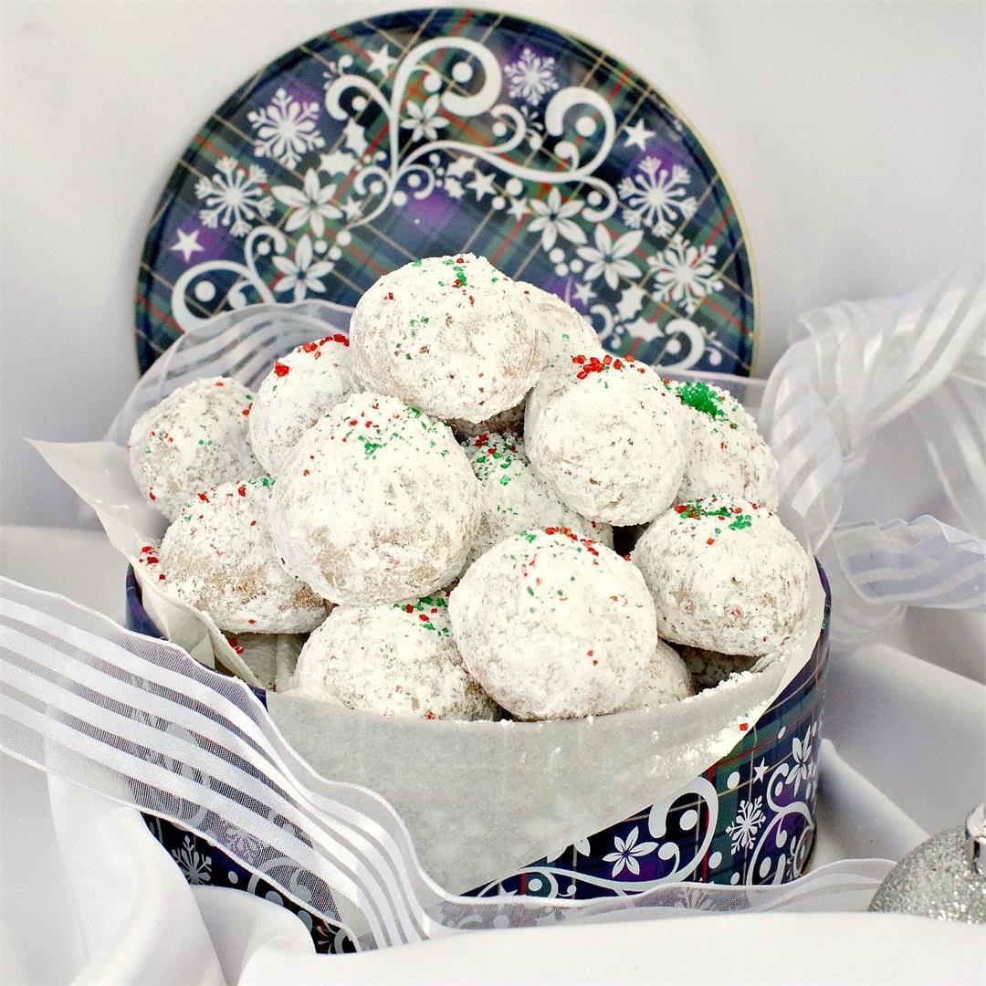 Gingerbread Snowball Cookies