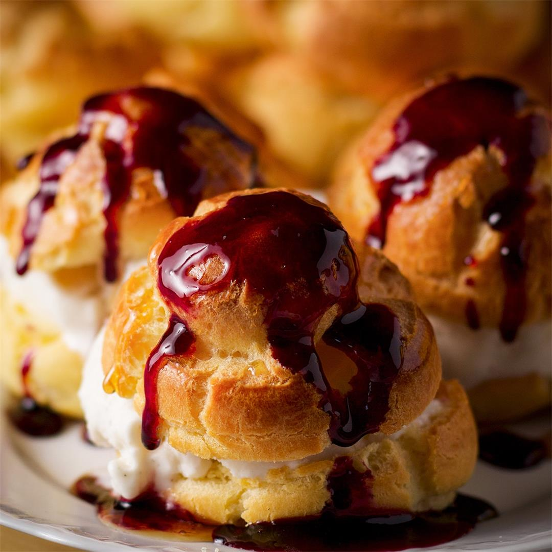 Perfect Profiteroles {Little French Cream Puffs}