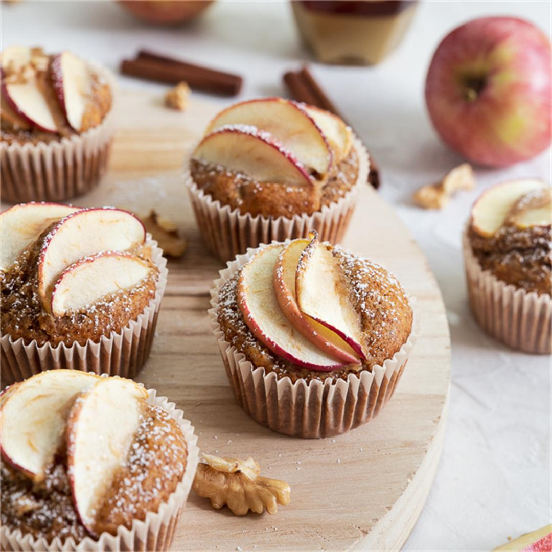 Apple Walnut Muffins with Honey