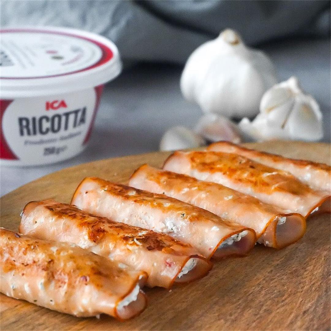 Turkey Ricotta Roll Ups (Keto and gluten-free)