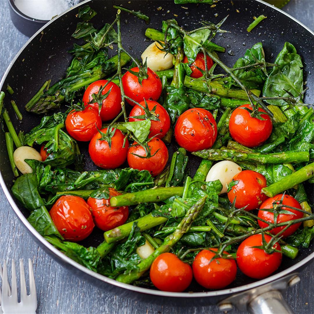 Mediterranean Pan Roasted Vegetables