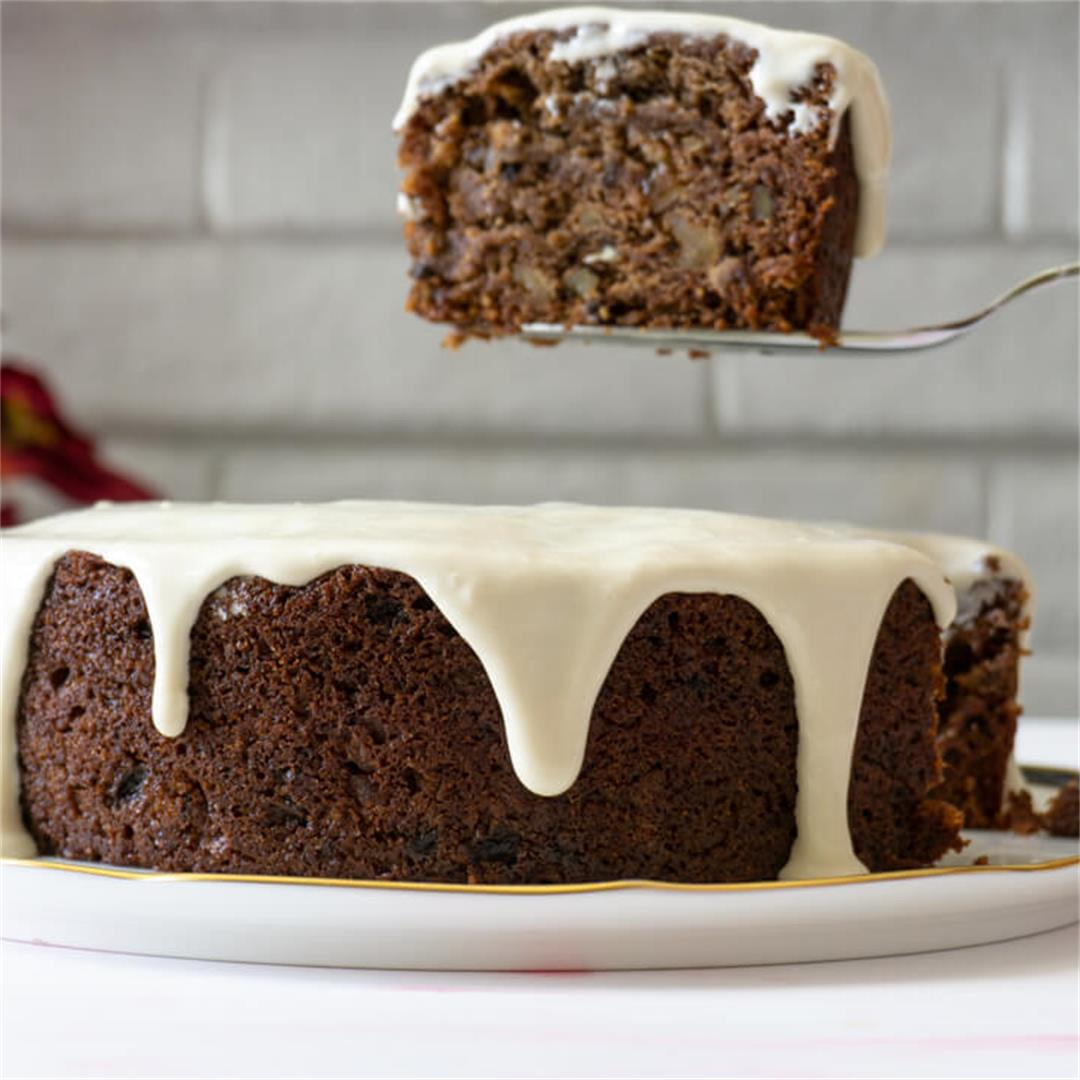 Spiced Persimmon Cake with Cream Cheese Icing
