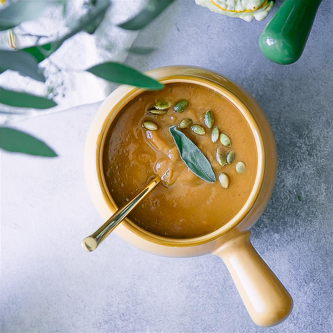 Instant Pot Pumpkin Sage Soup Recipe