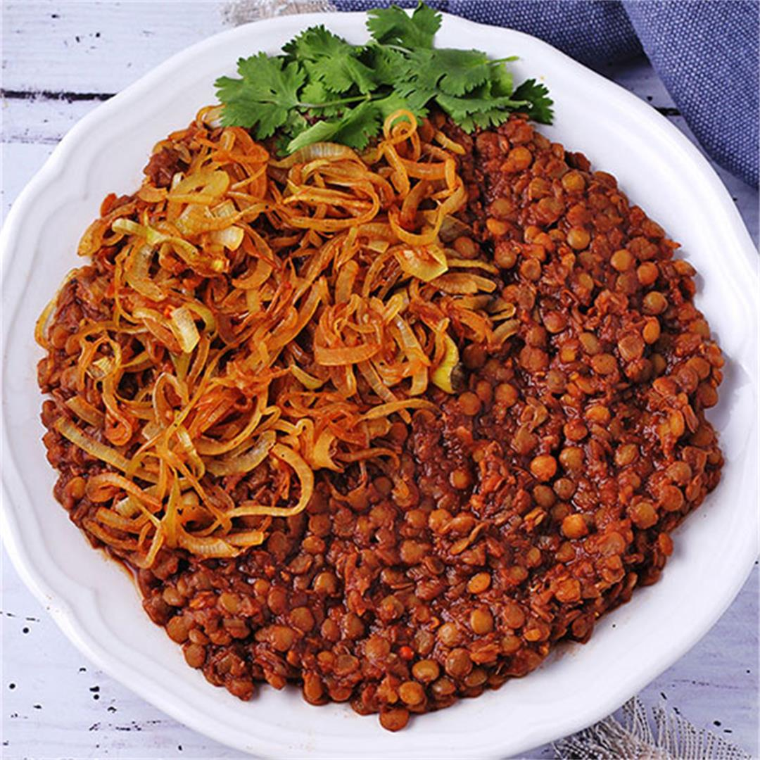 Busy day tamarind curry with lentils