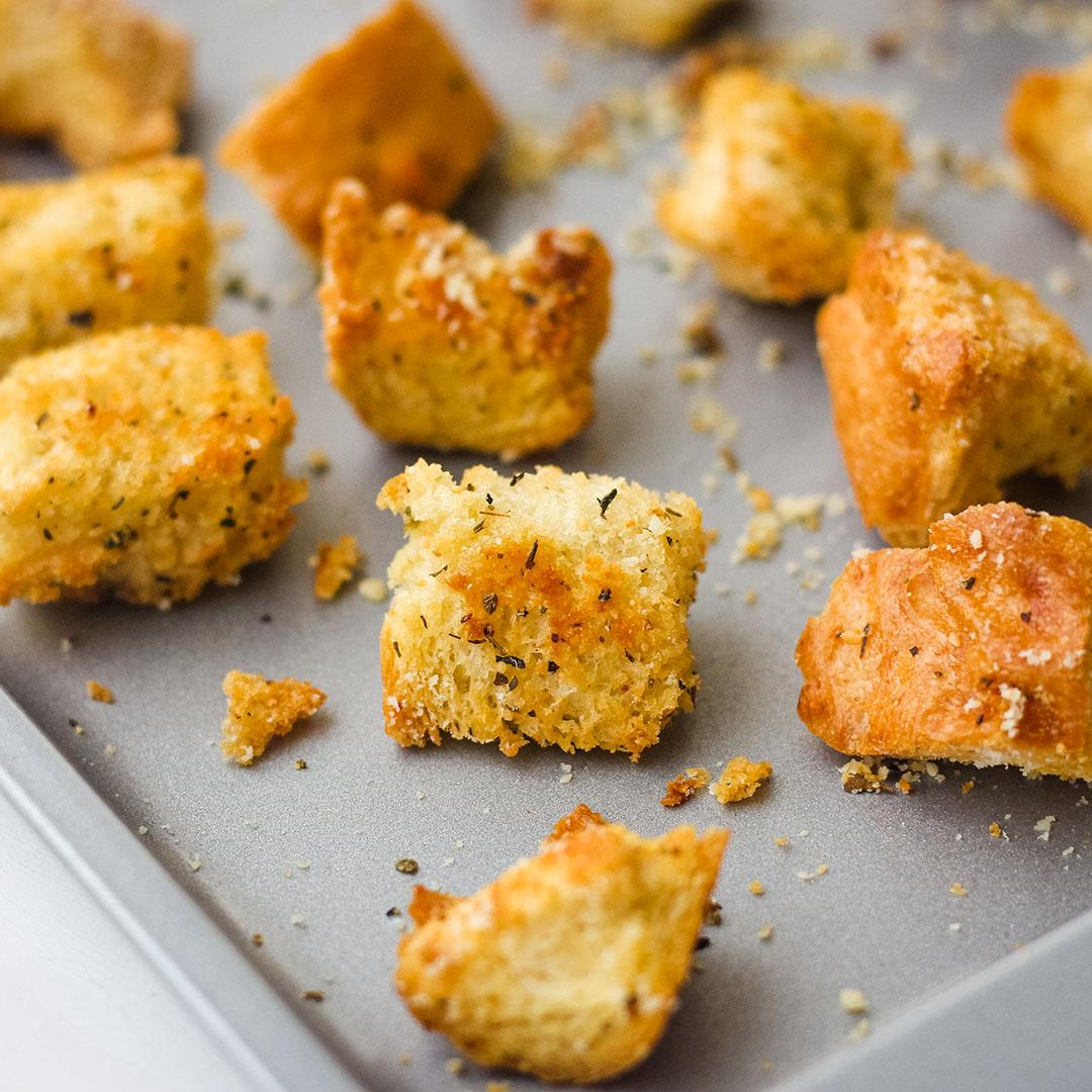 Toaster Oven Baked Croutons (Small Batch Recipe)