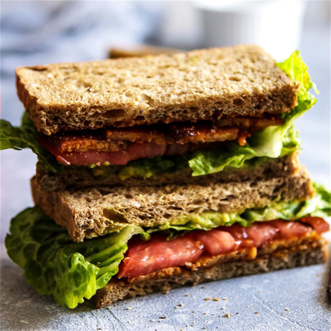 Vegan BLT Tempeh Sandwich • Happy Kitchen