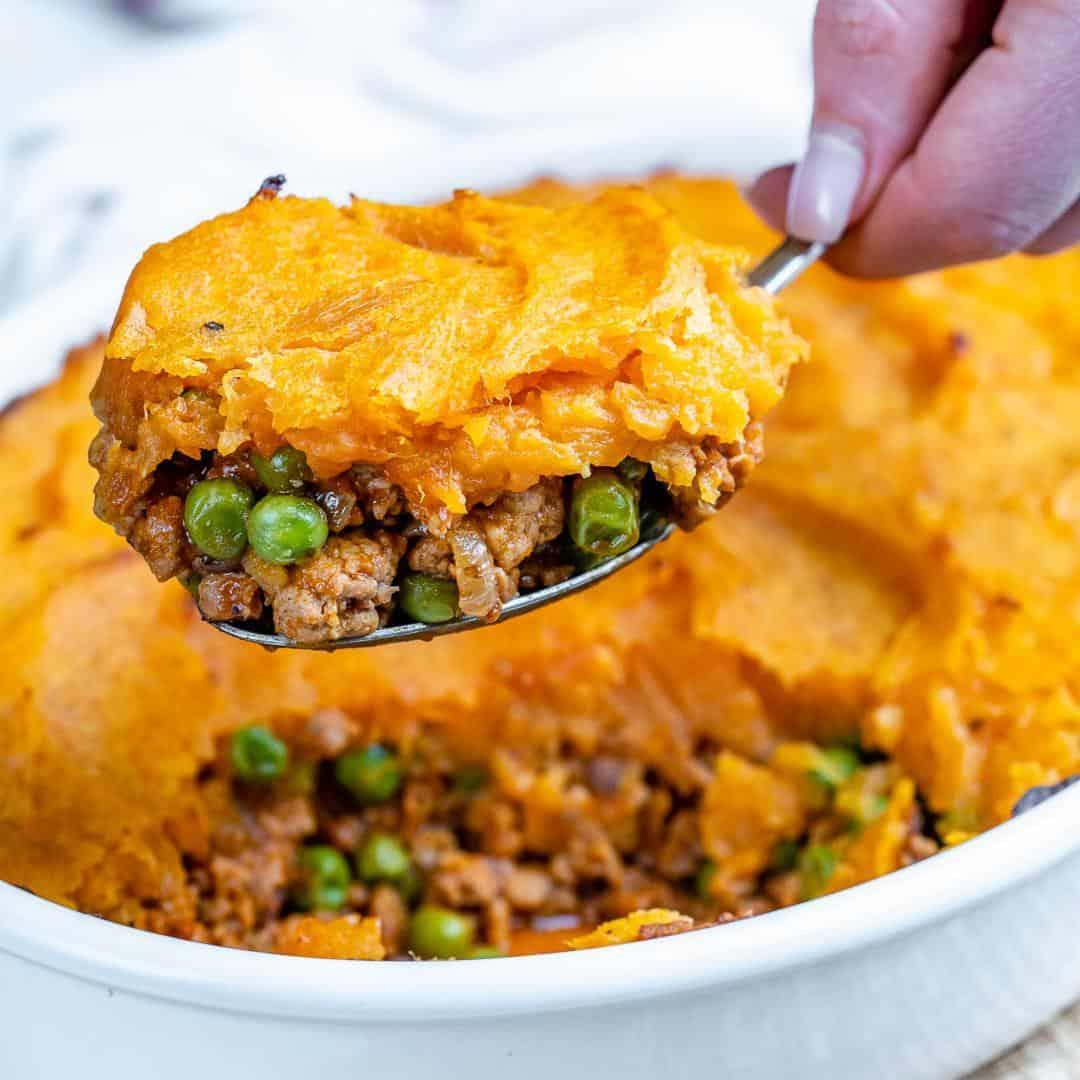 Healthy Sweet Potato Shepherd's Pie