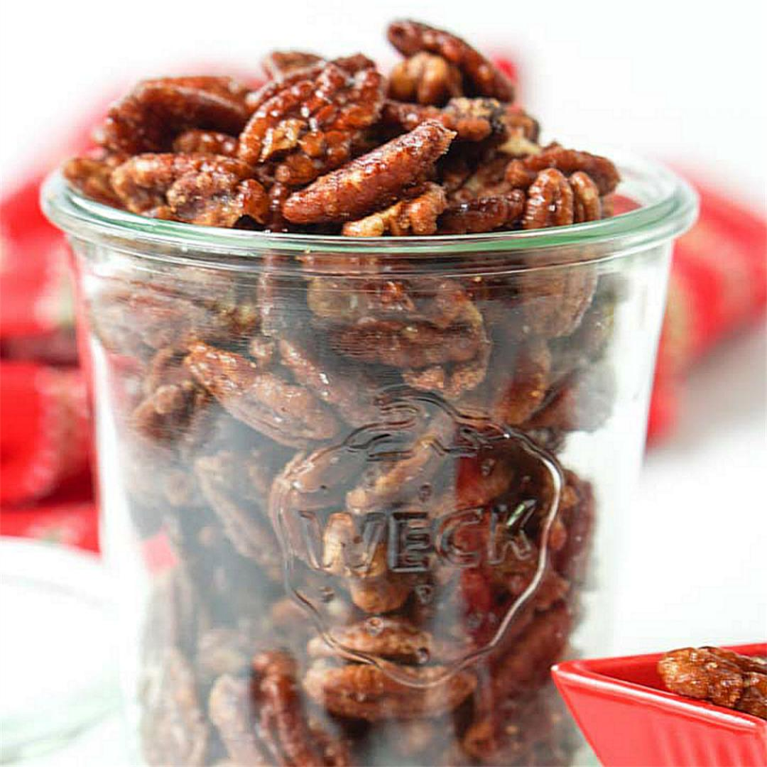 Sugar Free Keto Candied Pecans in just 15 minutes!