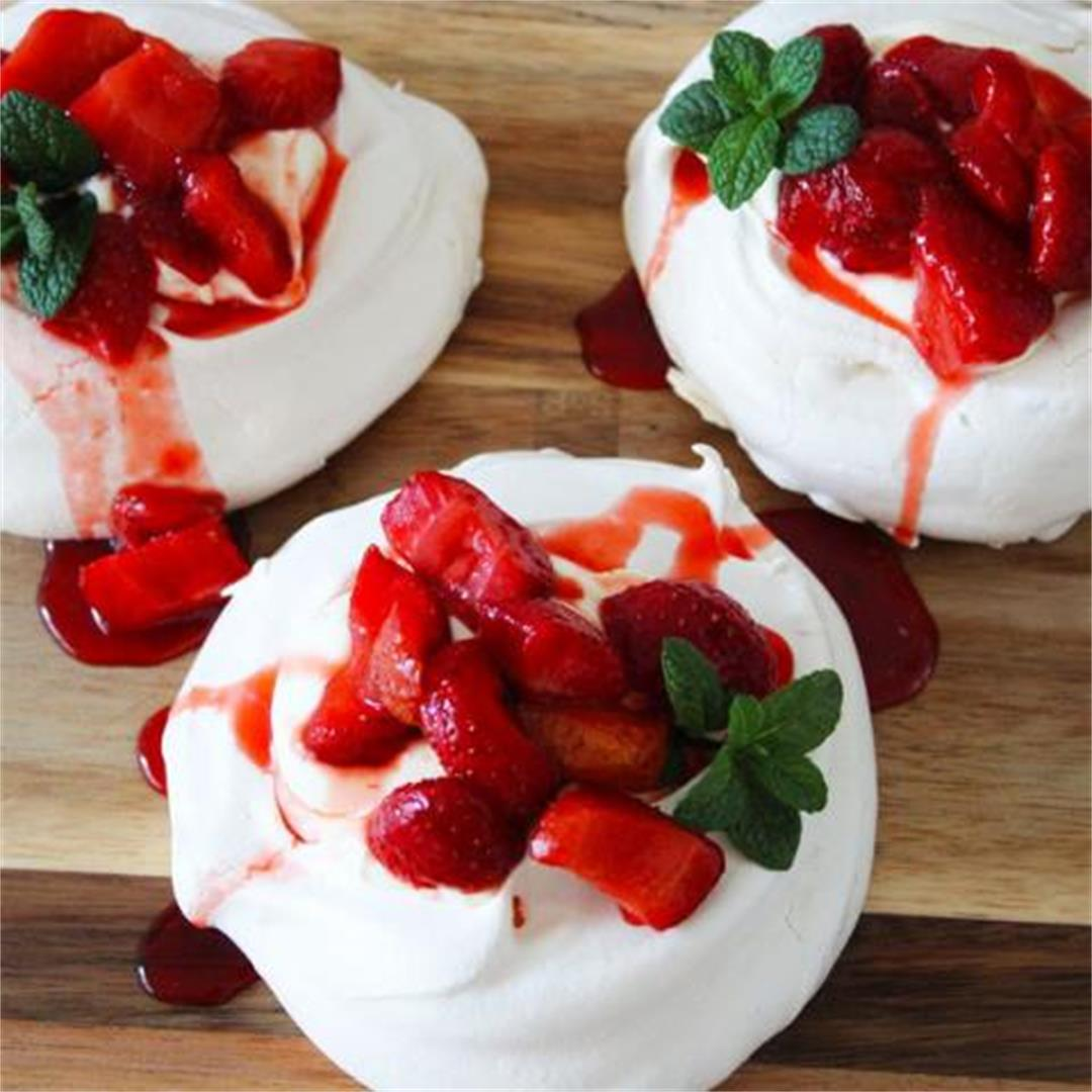 Individual Strawberry Meringues
