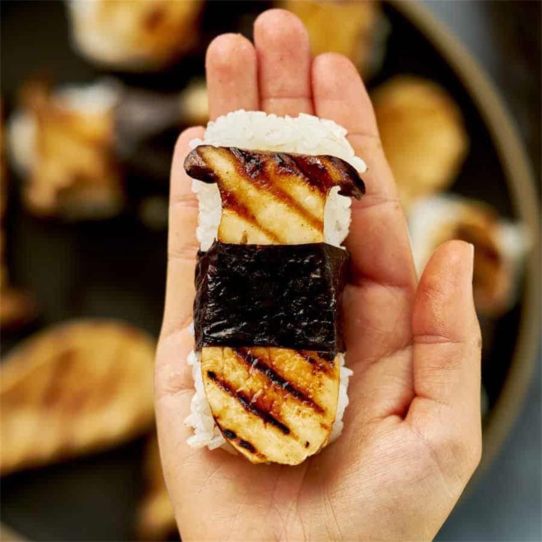 Vegan Grilled Mushroom Sushi