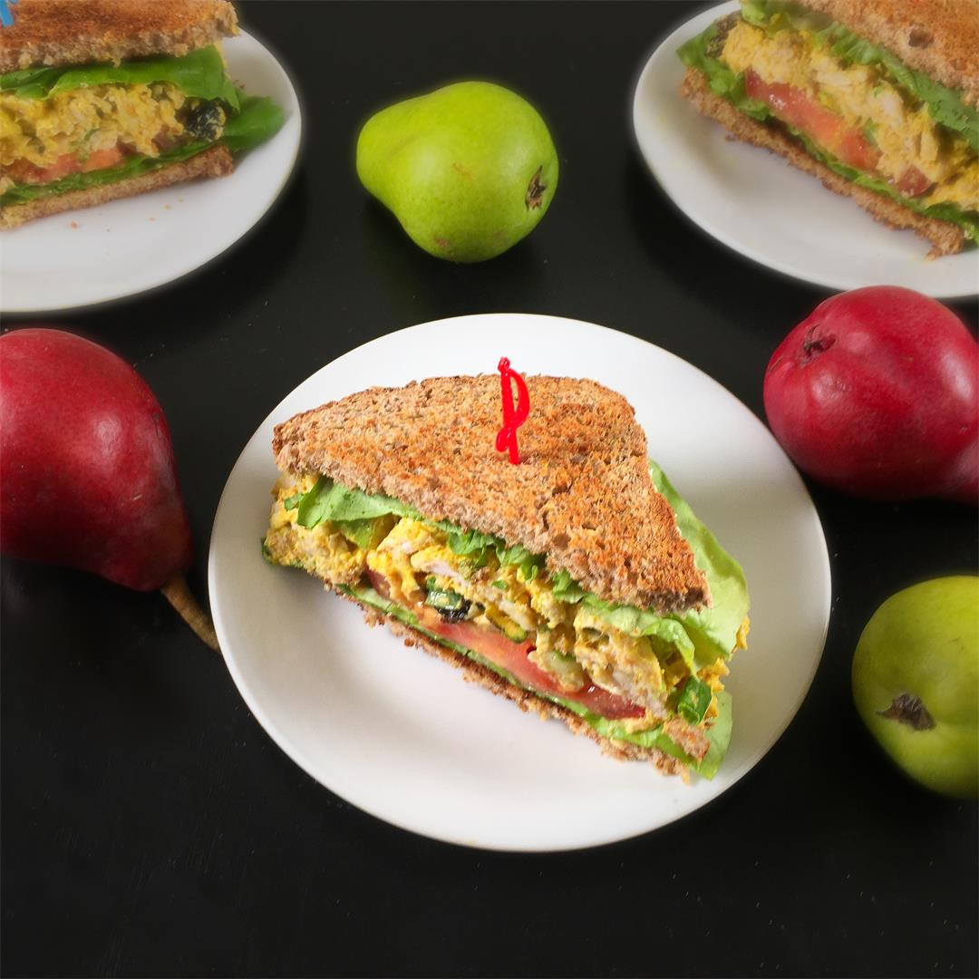 Turkey Curry Salad Sandwiches – Use Leftovers!