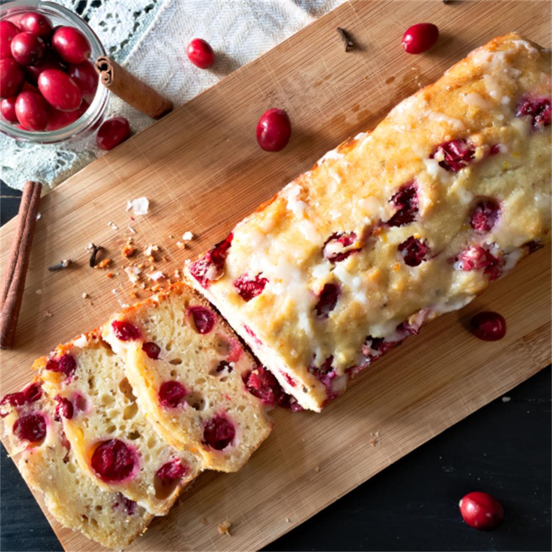 Effortless Cranberry Orange Bread