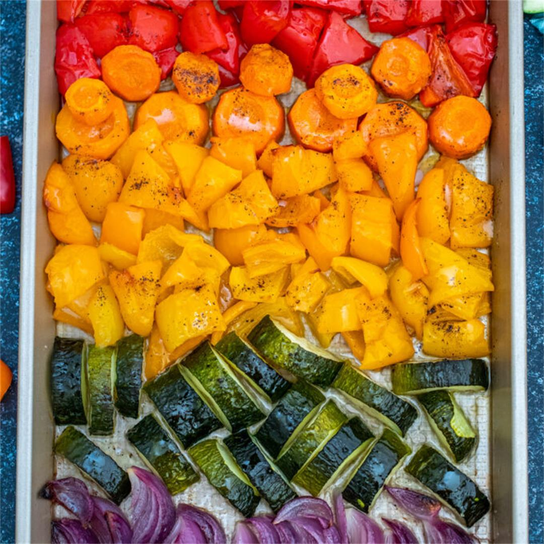 Rainbow Roasted Vegetables [Video]