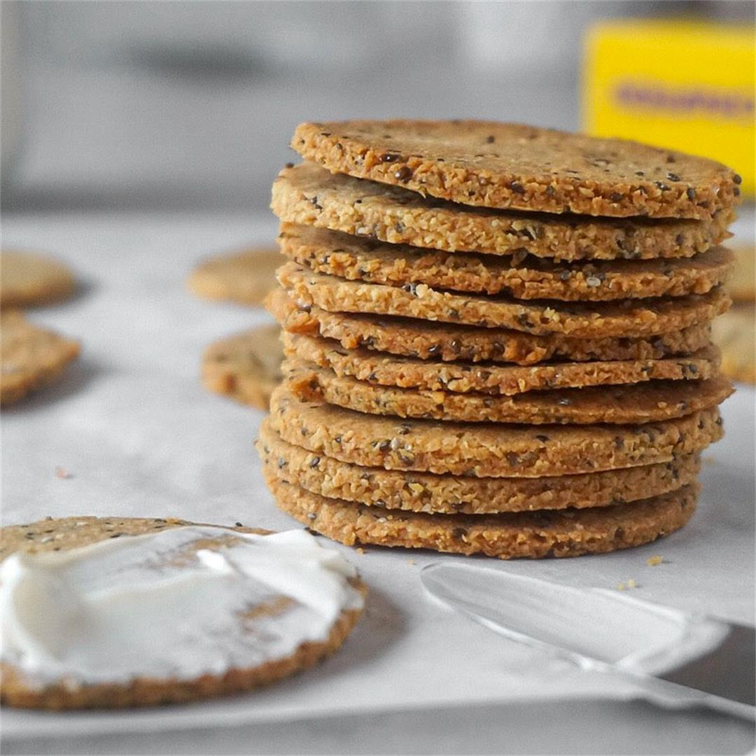 Low Carb Chia Crackers