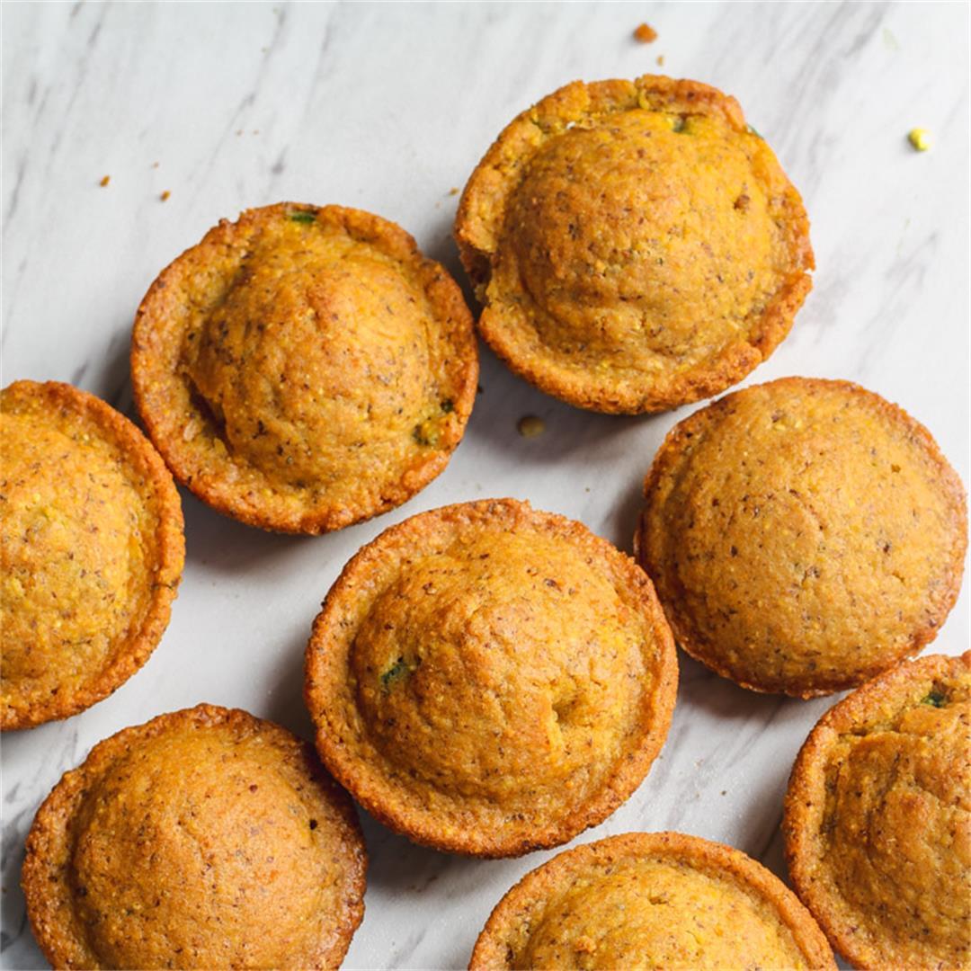 Vegan Cornbread Muffins (Jalapeños + Cheesy)