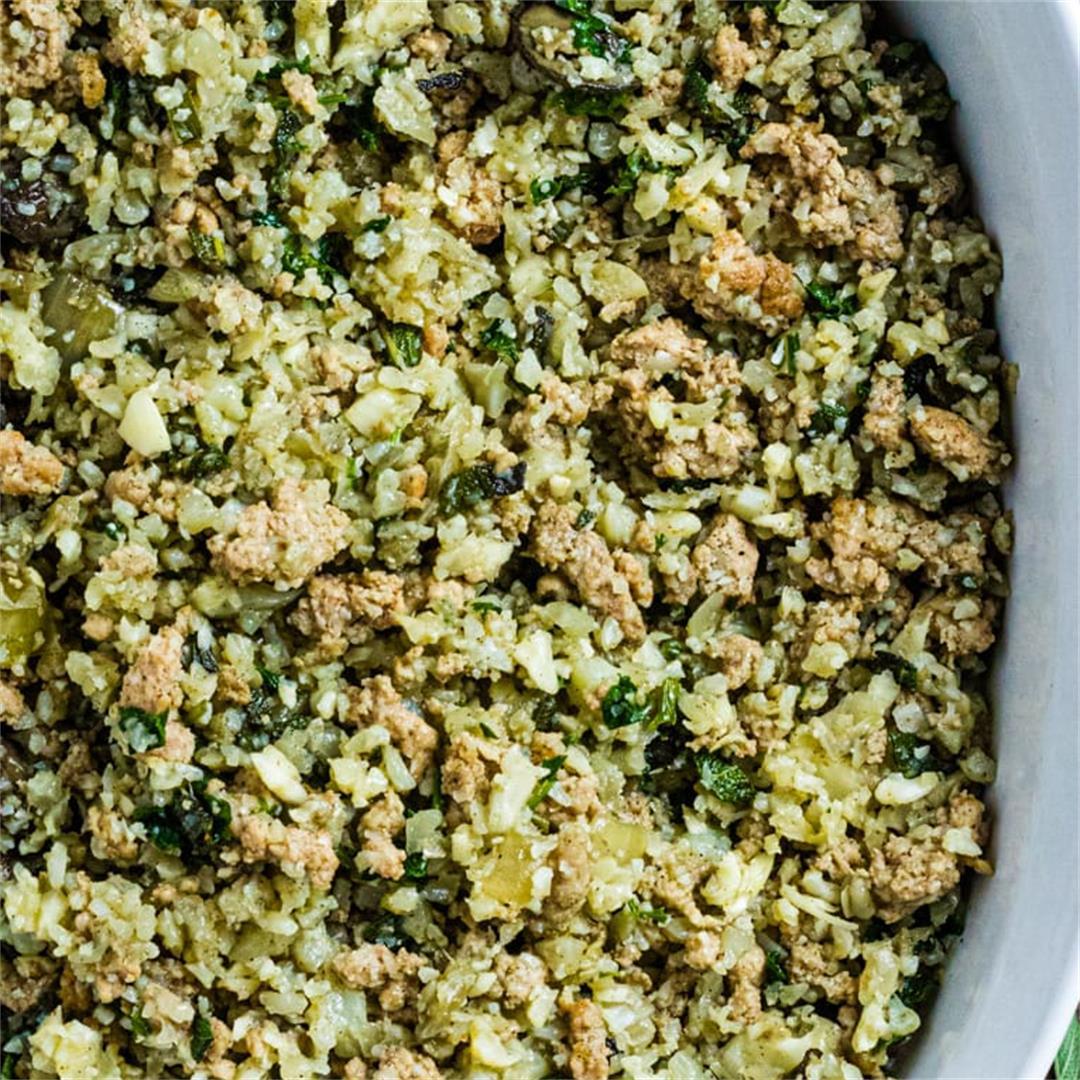Cauliflower Rice And Sausage Stuffing