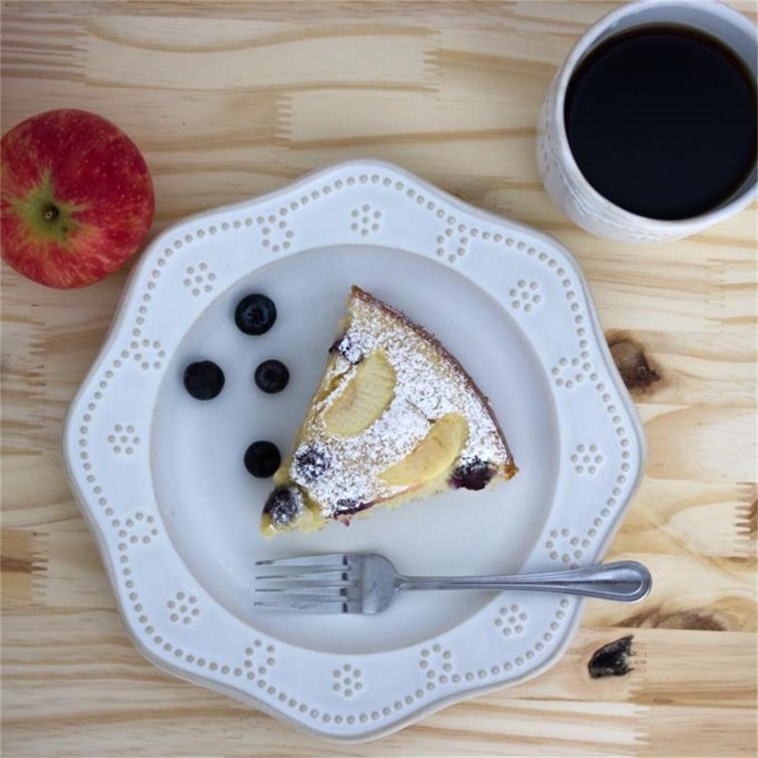 Blueberry Apple Breakfast Cake