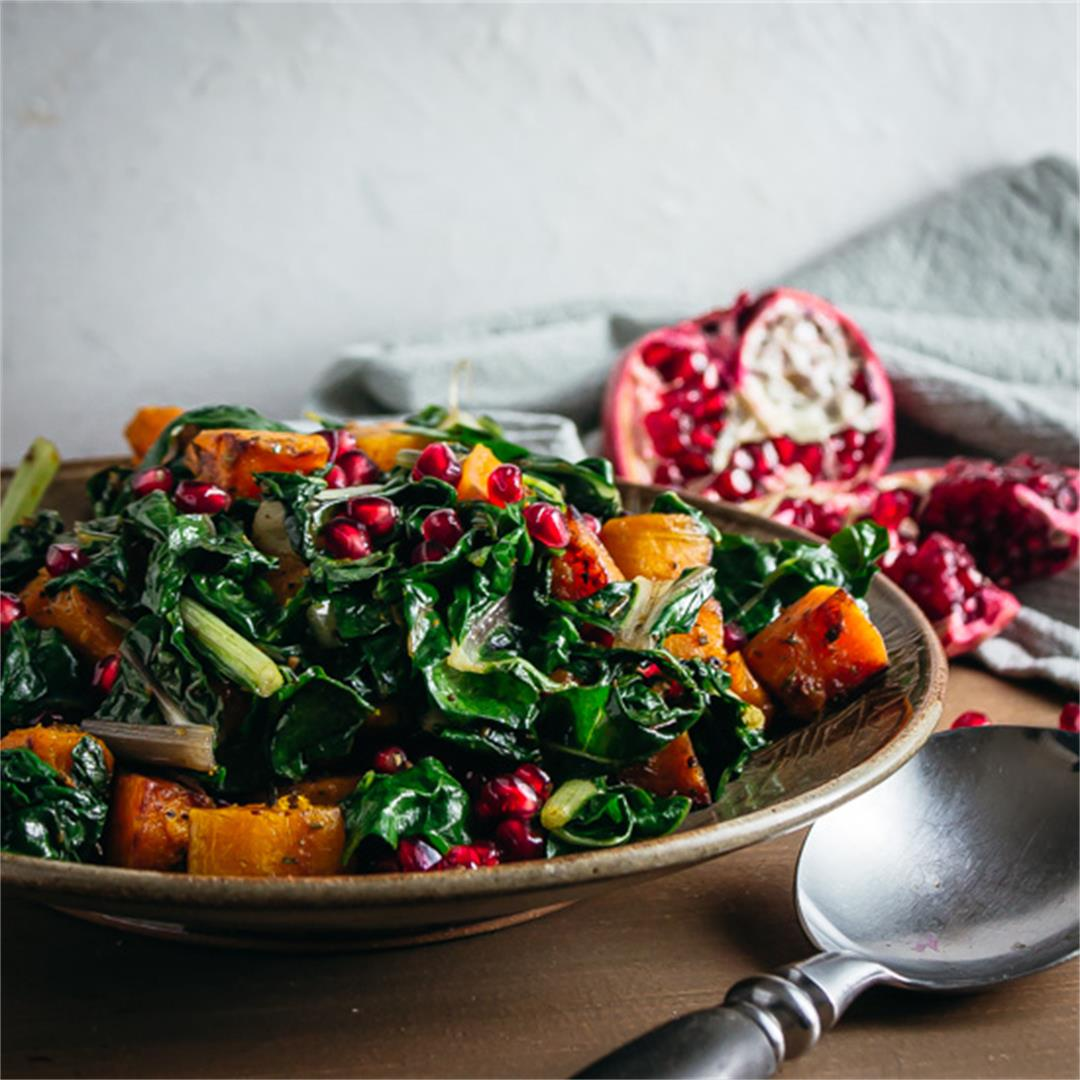 Sautéed Swiss Chard and Butternut Squash