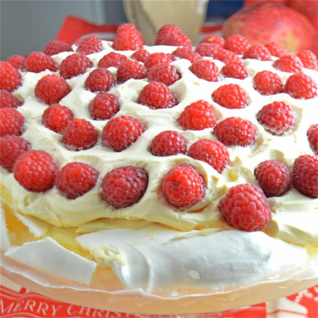 Raspberry White Chocolate Pavlova — Tasty Food for Busy Mums Fe