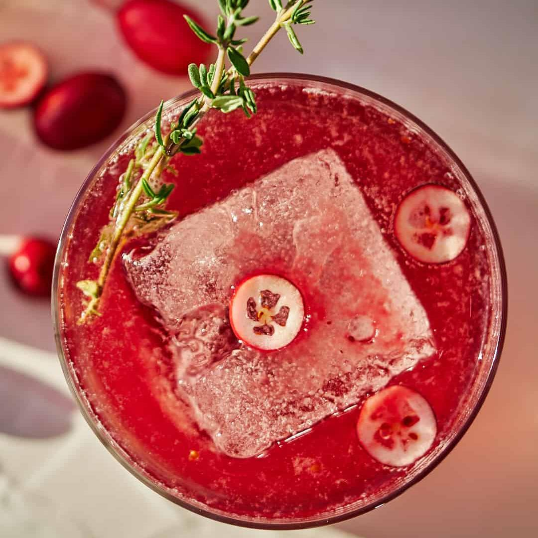 Cranberry Thyme Shrub