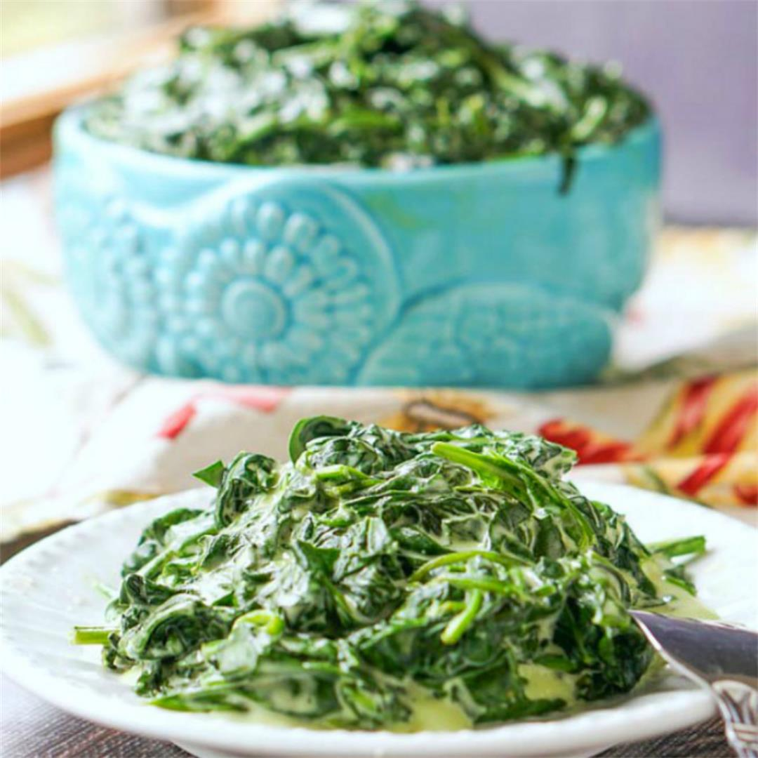 Slow Cooker Keto Creamed Spinach