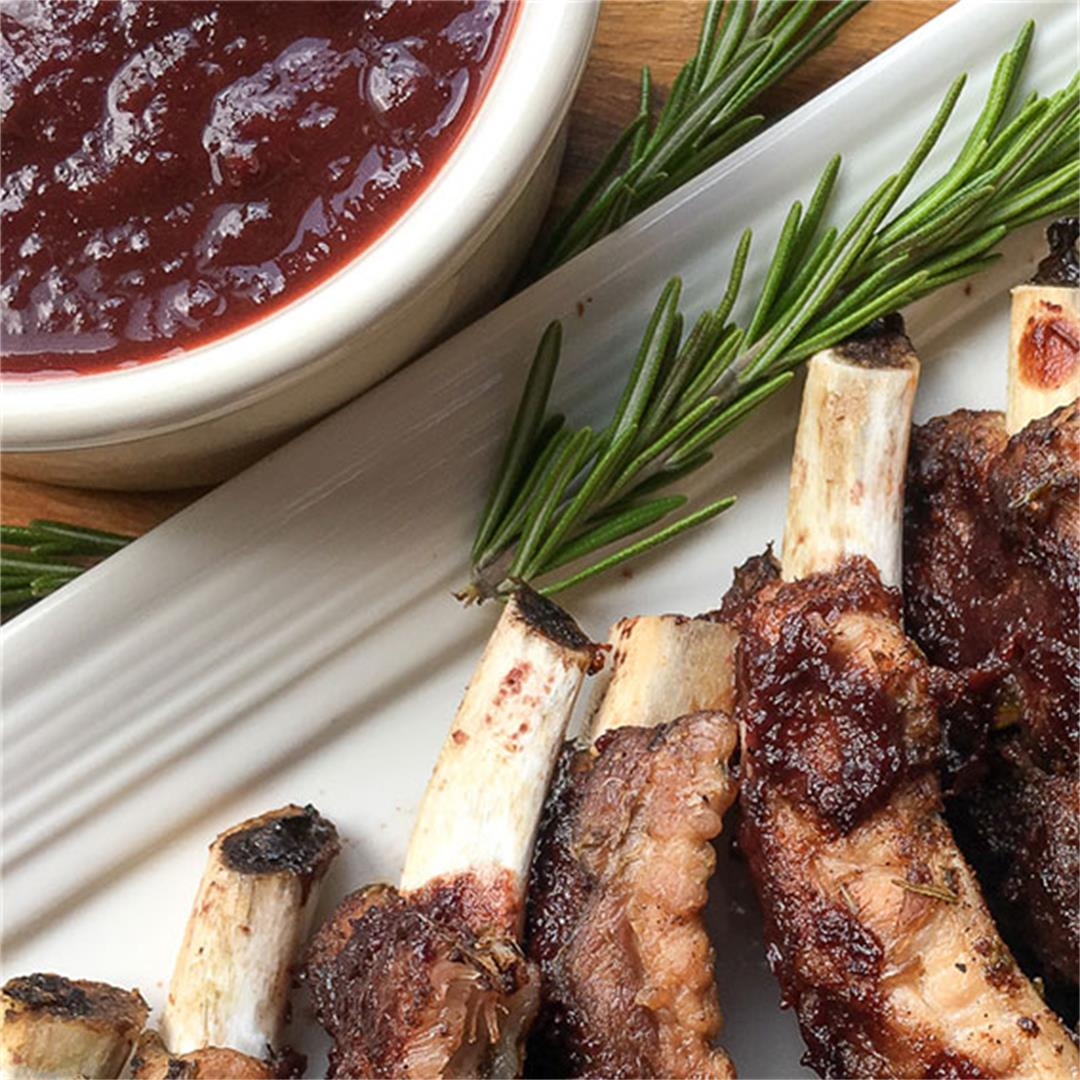 Instant Pot Baby Back Ribs with Dark Cherry BBQ Sauce