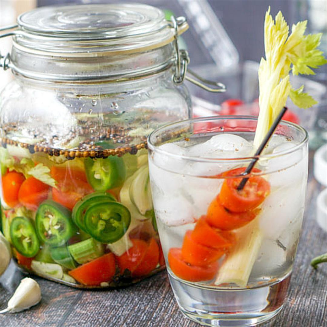 Bloody Mary Infused Vodka (a low carb beverage)