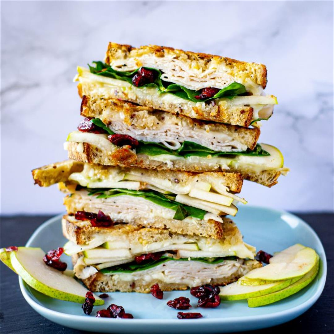 Brie, Pear, & Turkey Sandwiches