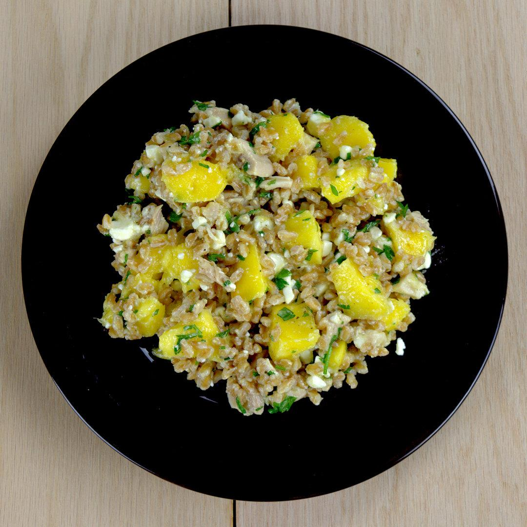 Farro Salad with Mango Chicken and Feta – A Gourmet Food Blog