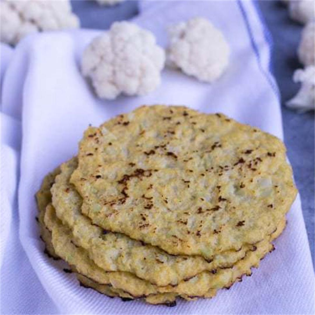 Cauliflower Tortillas (Keto, Low Carb, Paleo)