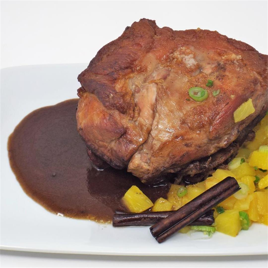 Caribbean Pork Roast with Gingered Pineapple