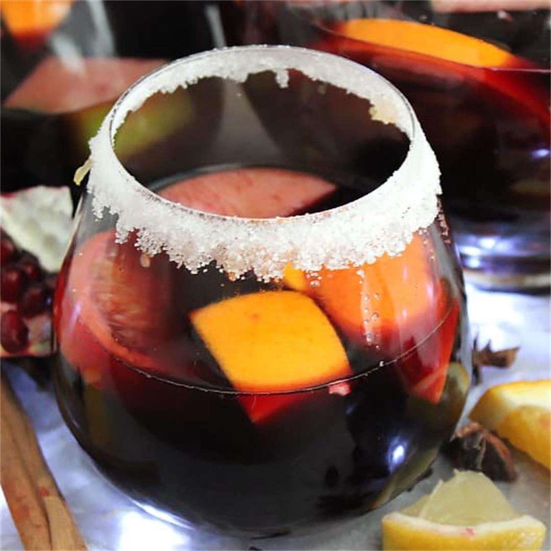 Christmas Red Wine Sangria
