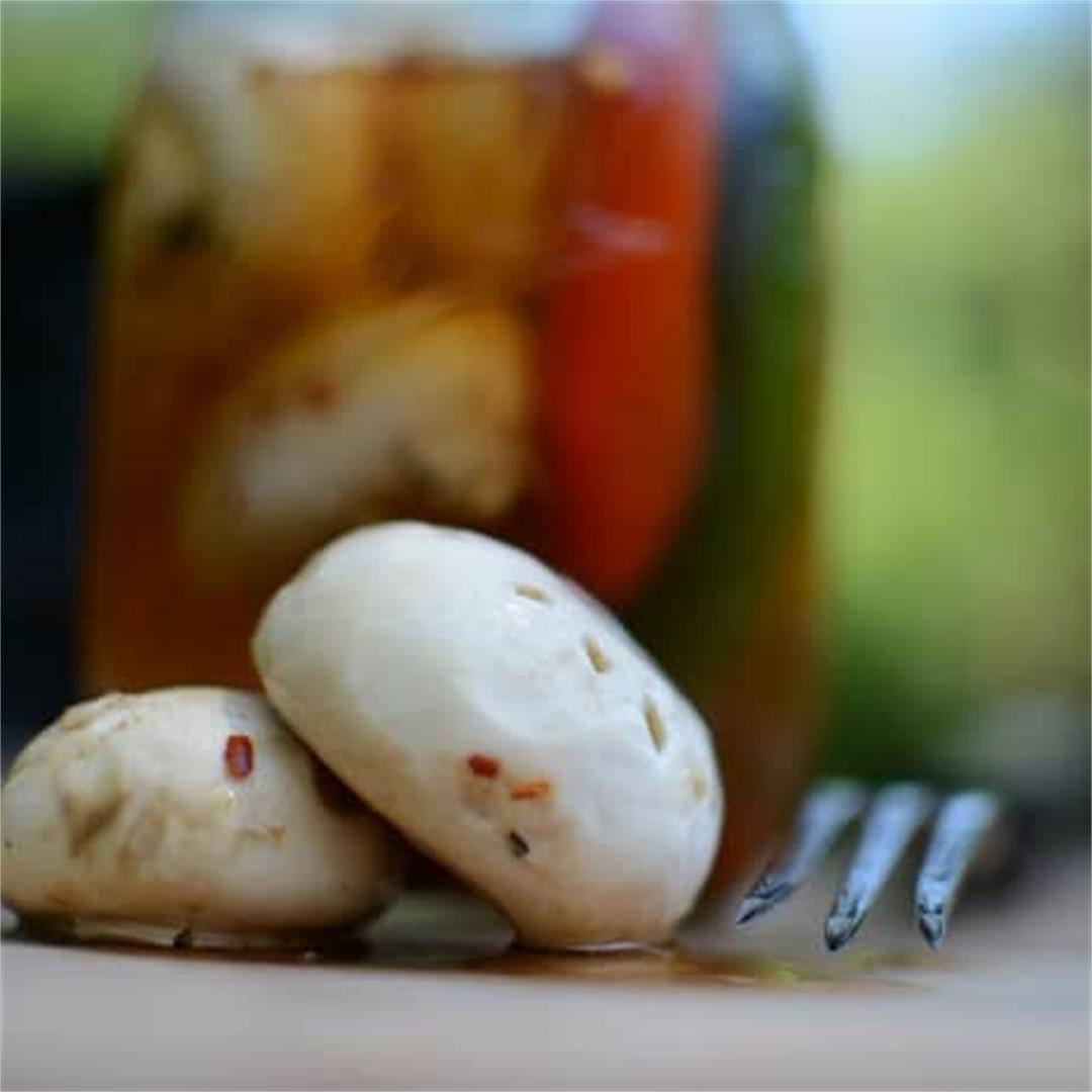 Three Alarm Pickled Mushrooms
