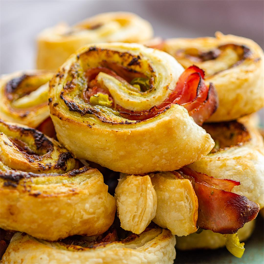 Ham and Jalapeno Air Fryer Pinwheels