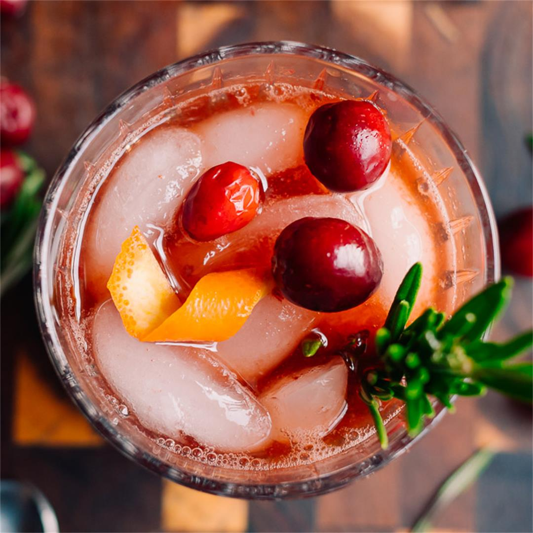 Low Carb Spiced Cranberry Old Fashioned