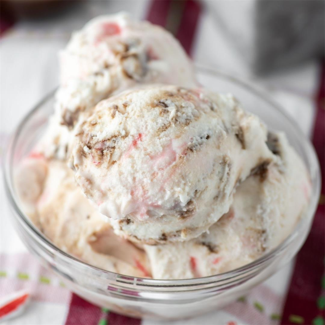 Homemade Peppermint Ice Cream