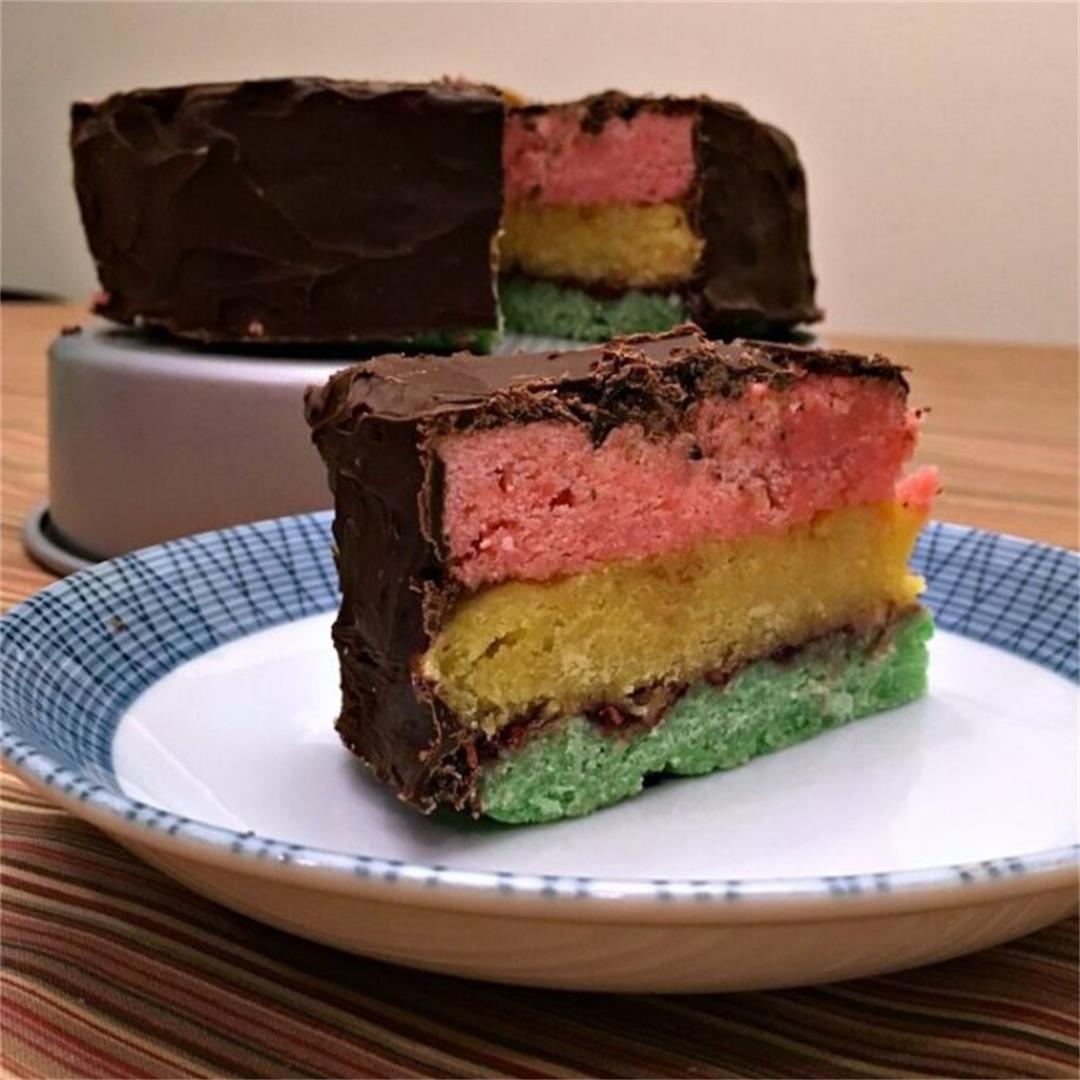 Italian Rainbow Cookies Cake