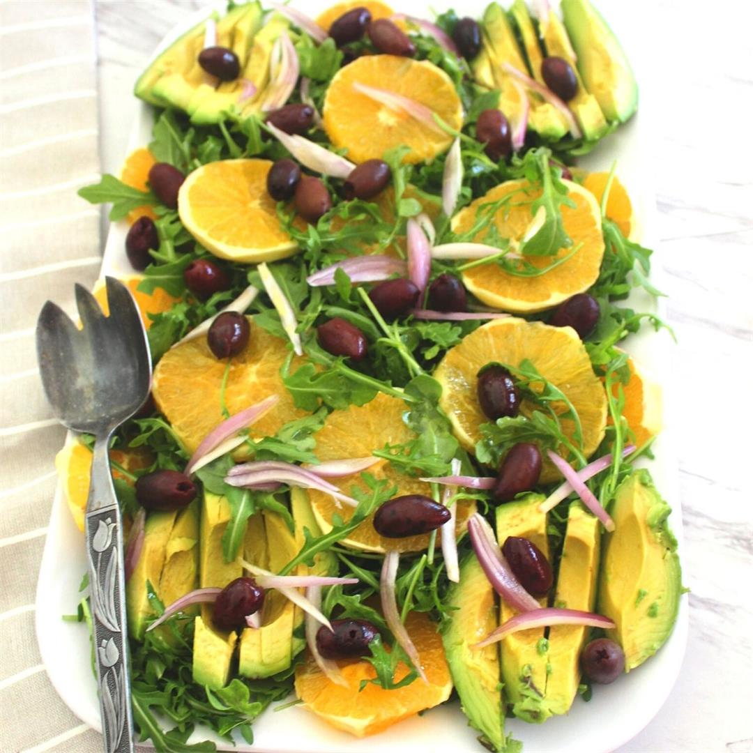 Orange Salad with Arugula and Avocado