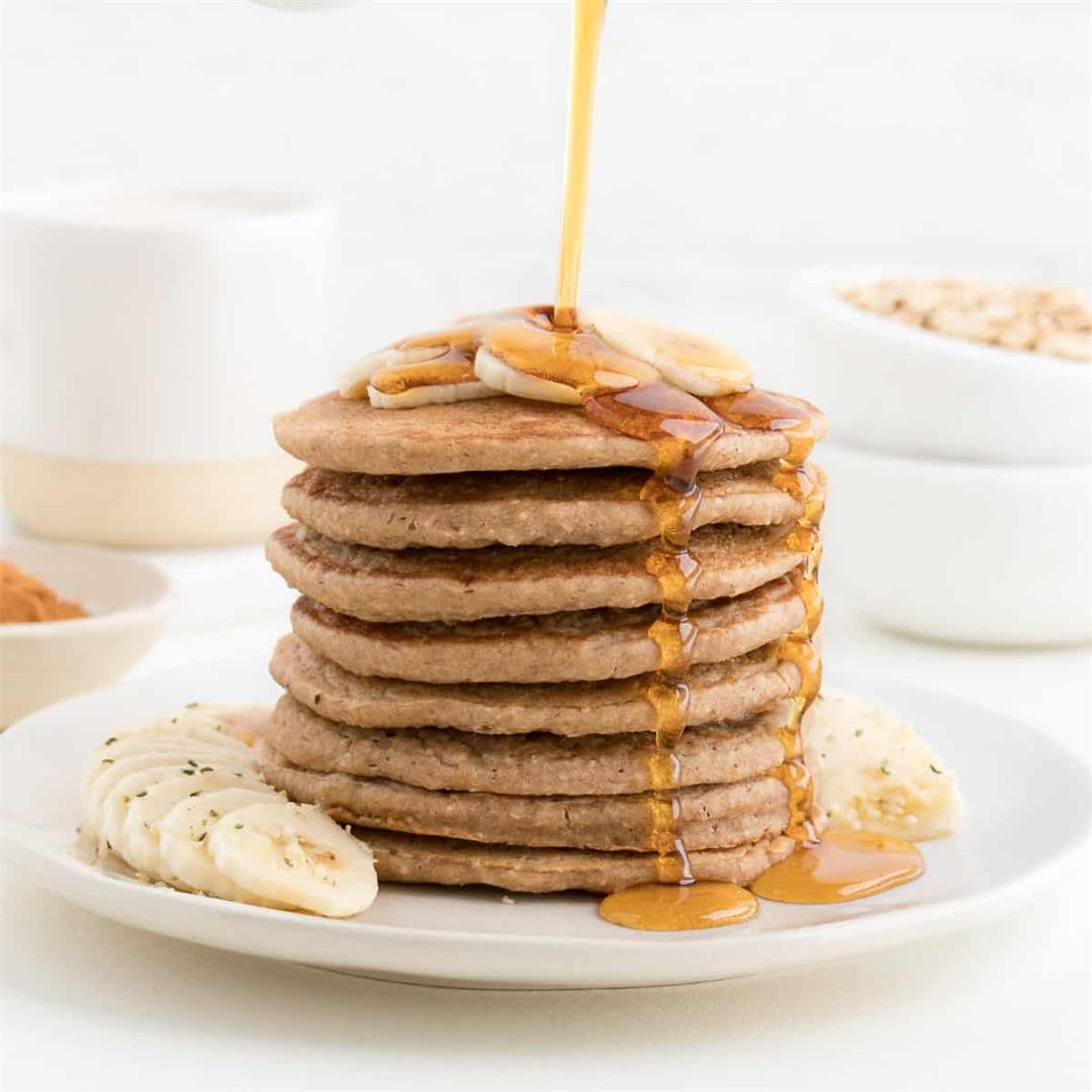 Banana Bread Pancakes (Vegan, Gluten-Free)