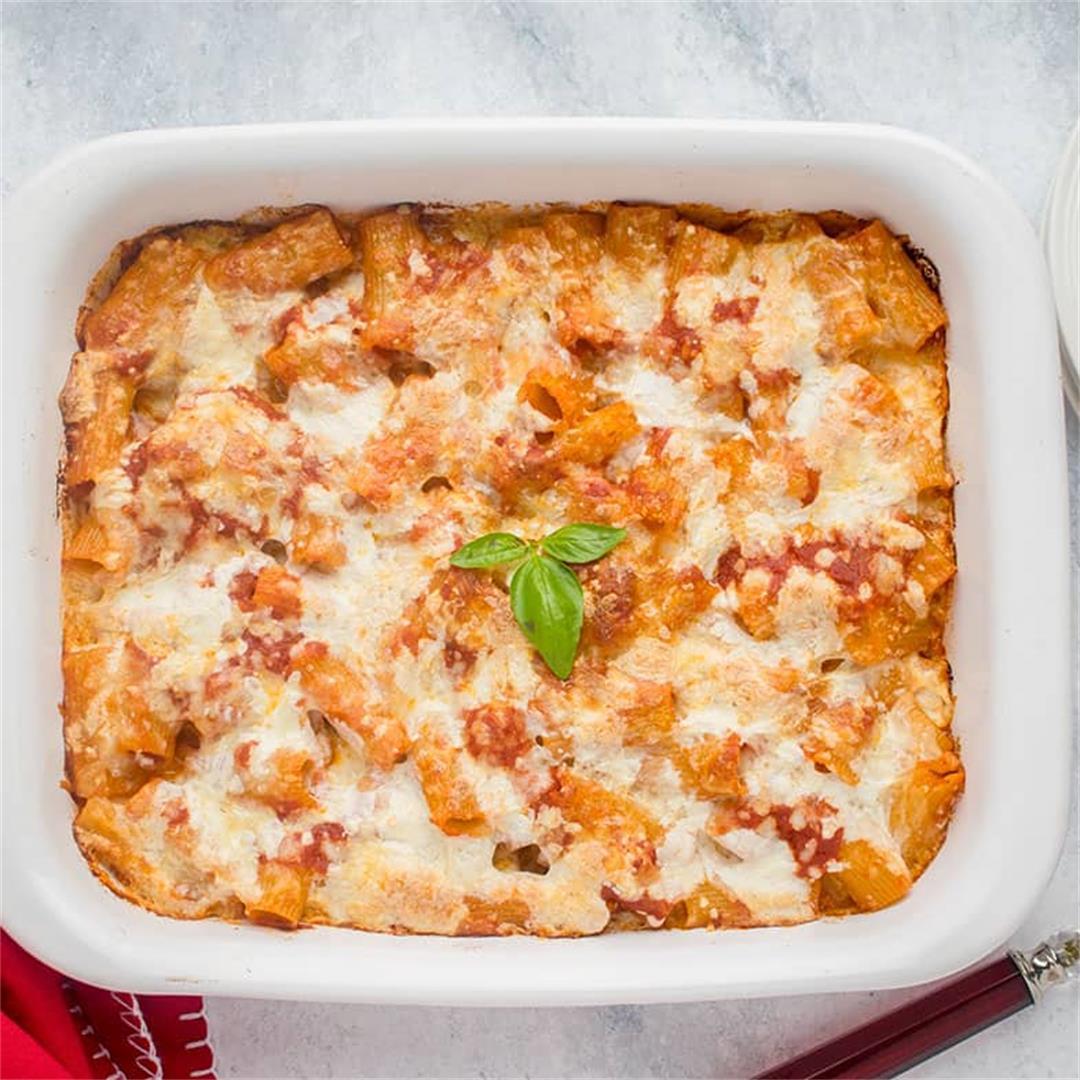 Pasta al Forno with Smoked Mozzarella
