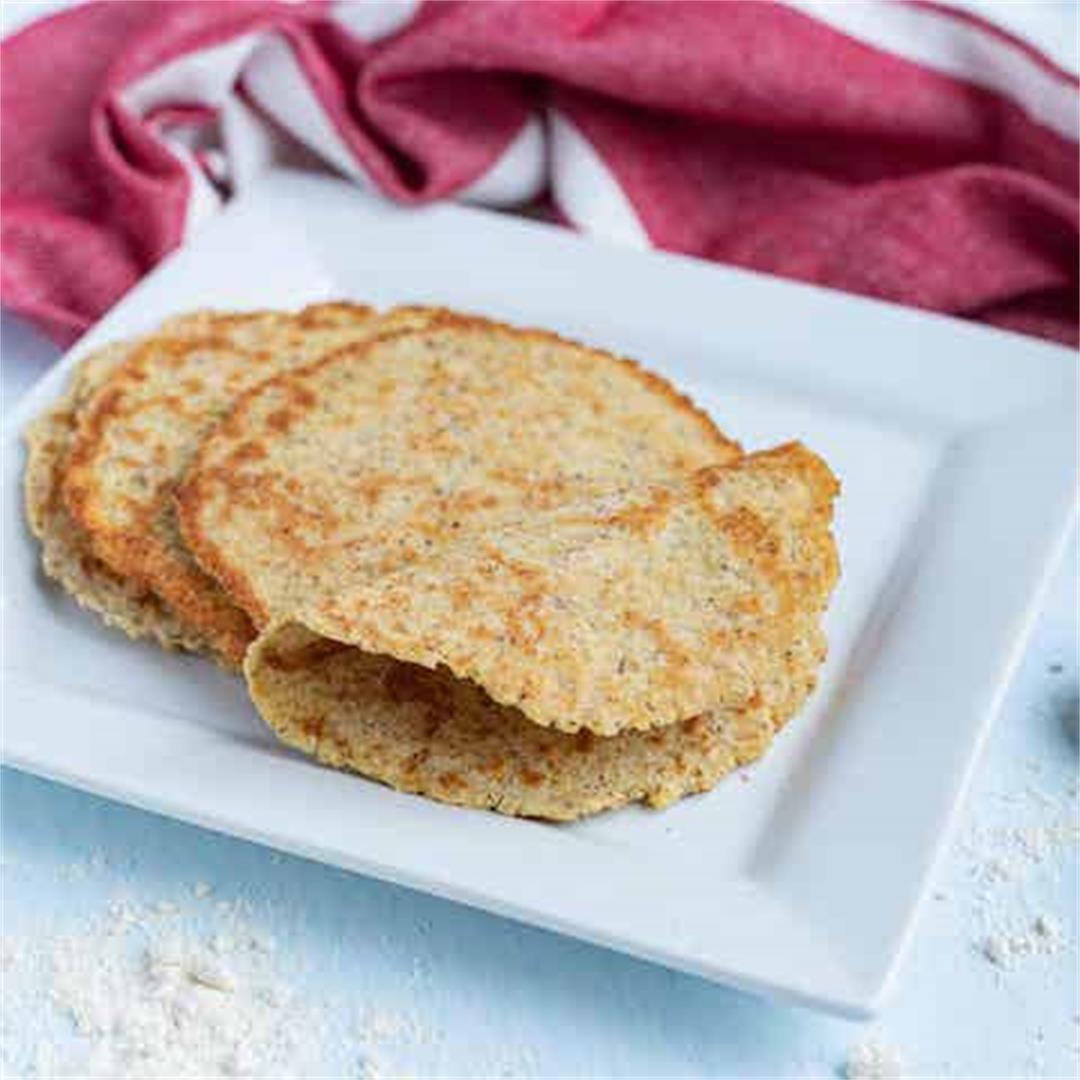 Coconut Flour Tortillas (Keto, Paleo)